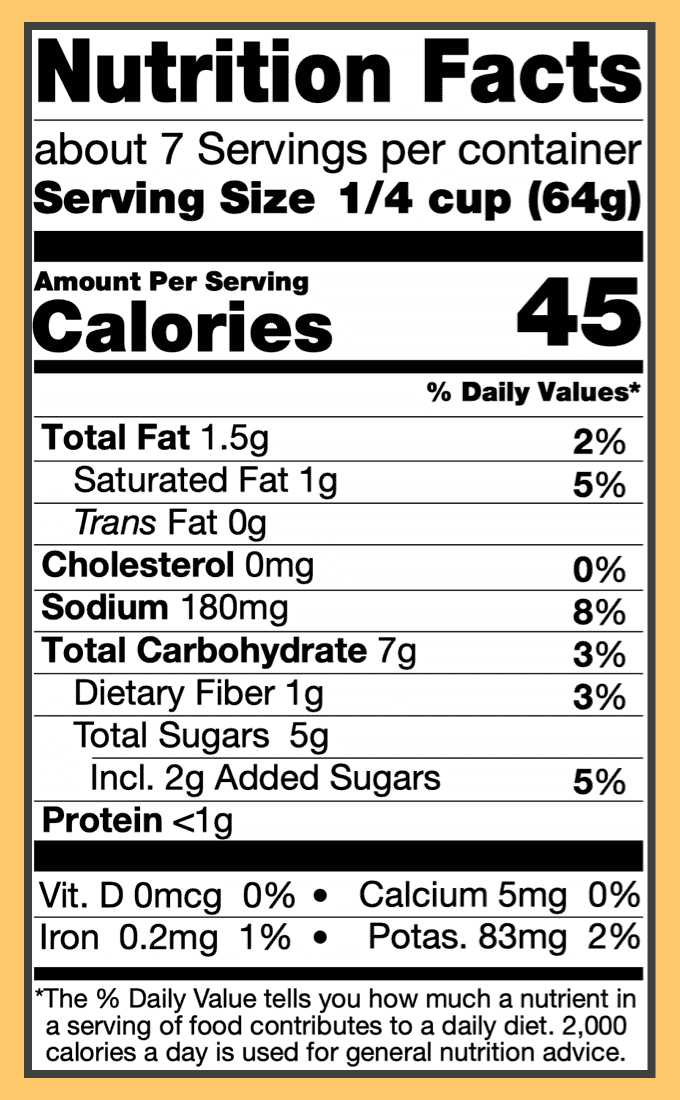 Nutritional mild curry sauce