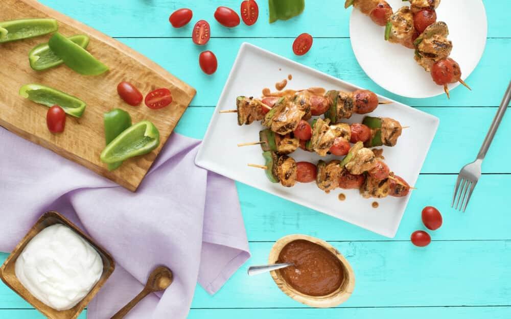 Grilled Butter Chicken Kebabs Recipe