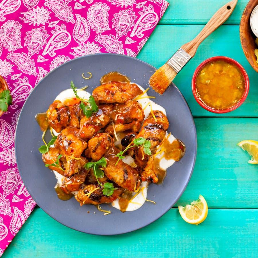 Chutney Chicken Wings Recipe