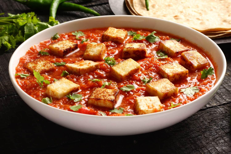 Grilled Tofu Tikka Masala with Oven Roasted Potatoes Recipe