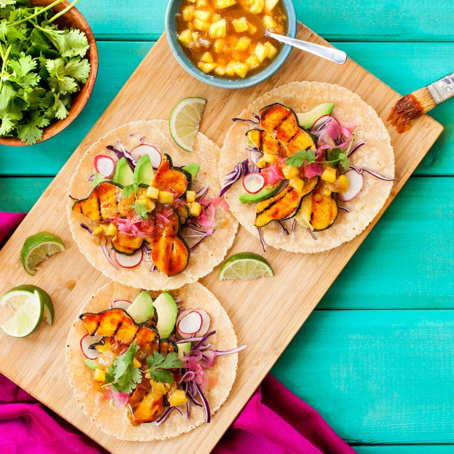Hot Curry Squash Tacos Recipe