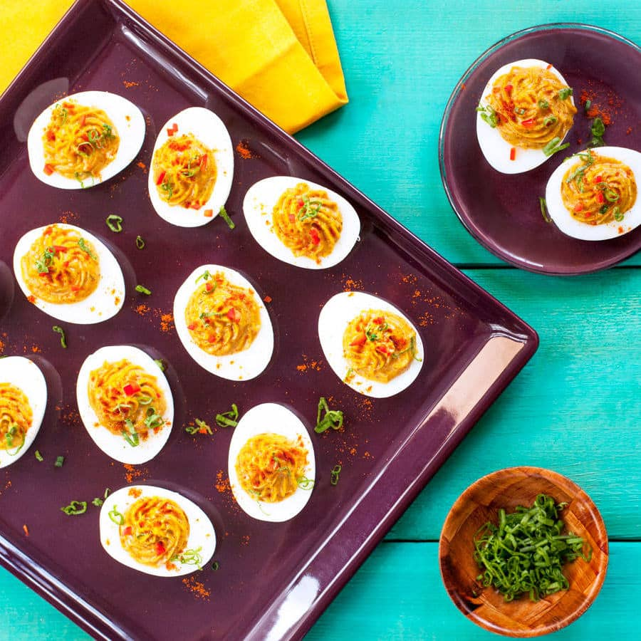 Korma Devilled Eggs Recipe