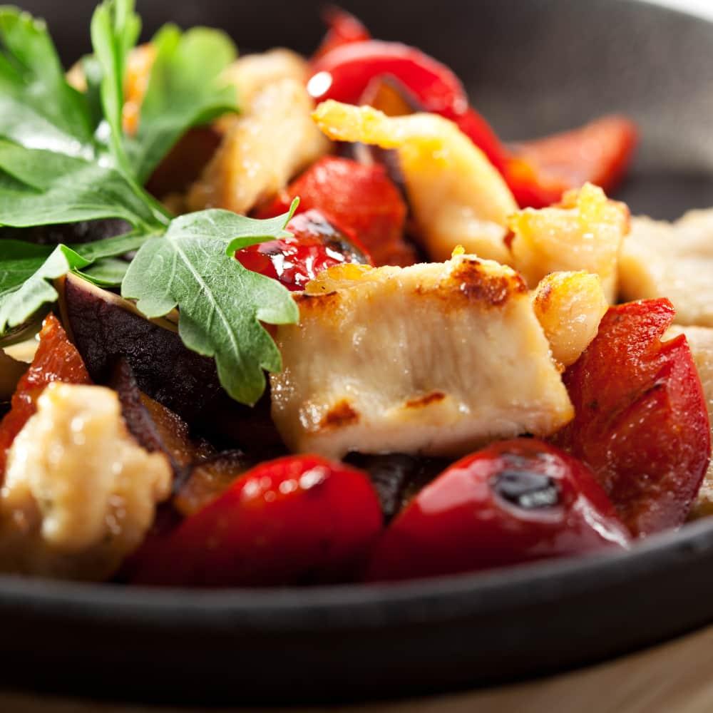 Madras Chicken Bites with Red Pepper Salsa Recipe