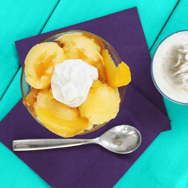 Mango Chutney Topped Sorbet Recipe