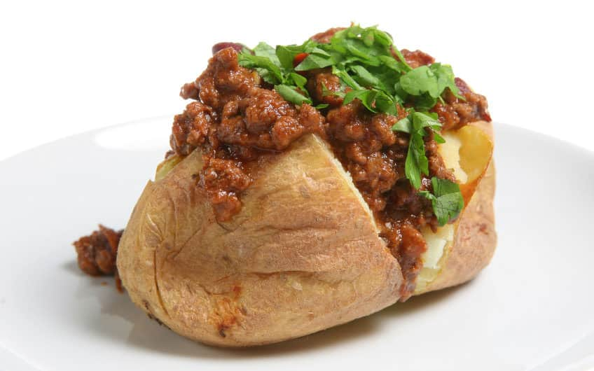 Masala Ground Beef Jacket Potato Recipe
