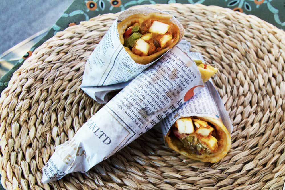 Paneer Kaathi Roll Recipe