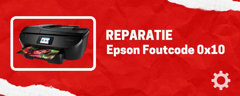 Epson Printer foutcode 0x10