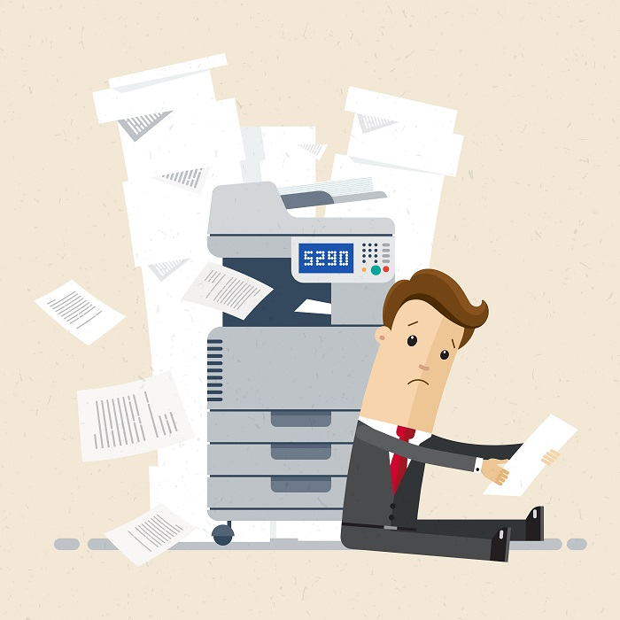 Entfernen Sie den Papierstau