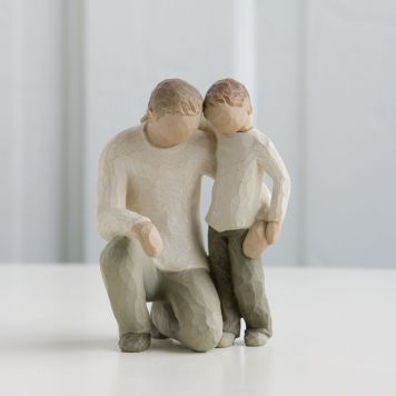 ウィローツリー彫像 【Father & Son】 - 父と息子