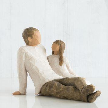 ウィローツリー彫像 【Father & Daughter】 - 父と娘