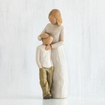ウィローツリー彫像 【Mother and Son】 - 母と息子