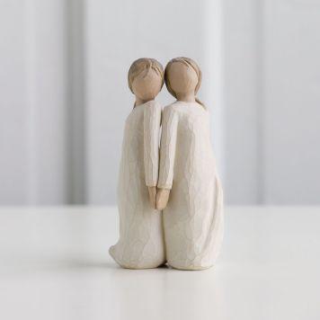 ウィローツリー彫像 【Two Alike】 - 私たち似てるね