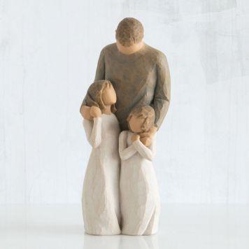 ウィローツリー彫像 【My Girls】 - 娘に囲まれて