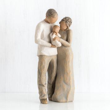 ウィローツリー彫像 【We are three】 - 3人目の家族