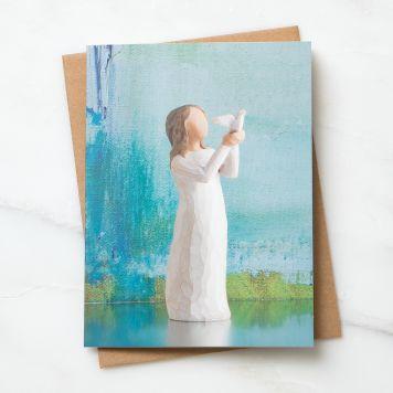 ウィローツリーノートカード 【Soar】 - 飛んでいって