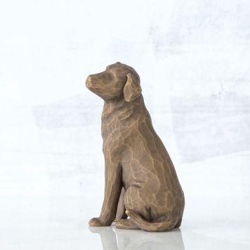 ウィローツリー彫像 【Love my Dog(dark)】 - 私の愛犬