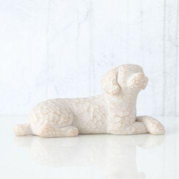 ウィローツリー 彫像 【Love my Dog (lying down)】 - 私の愛犬