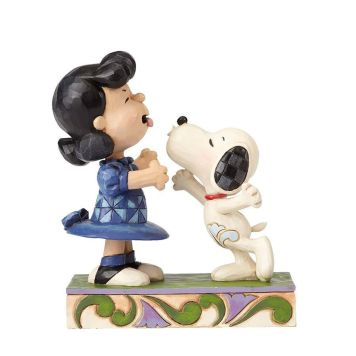 ルーシーにキスするスヌーピー