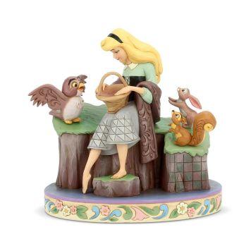 オーロラ姫 眠れる森の美女 動物たちと