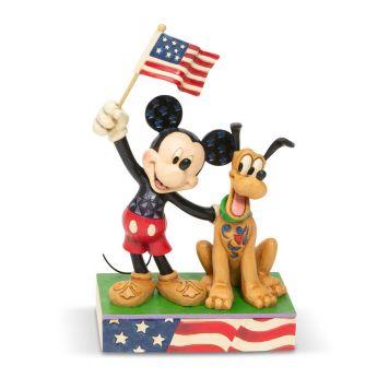 ミッキーとプルート アメリカンフラッグ