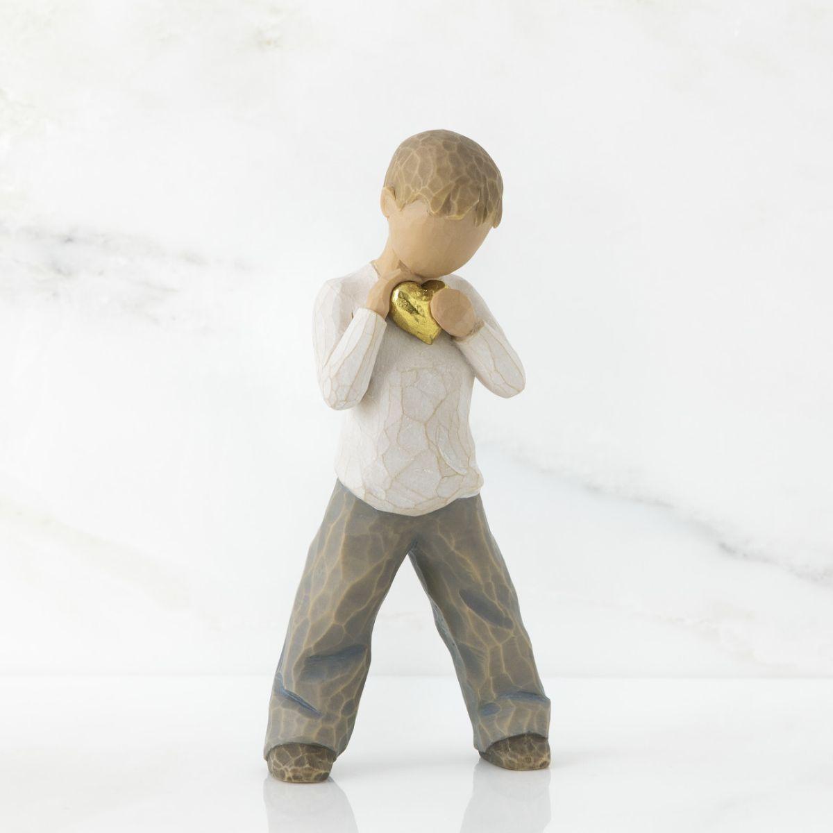 ウィローツリー彫像 【Heart of Gold】 - 黄金の精神