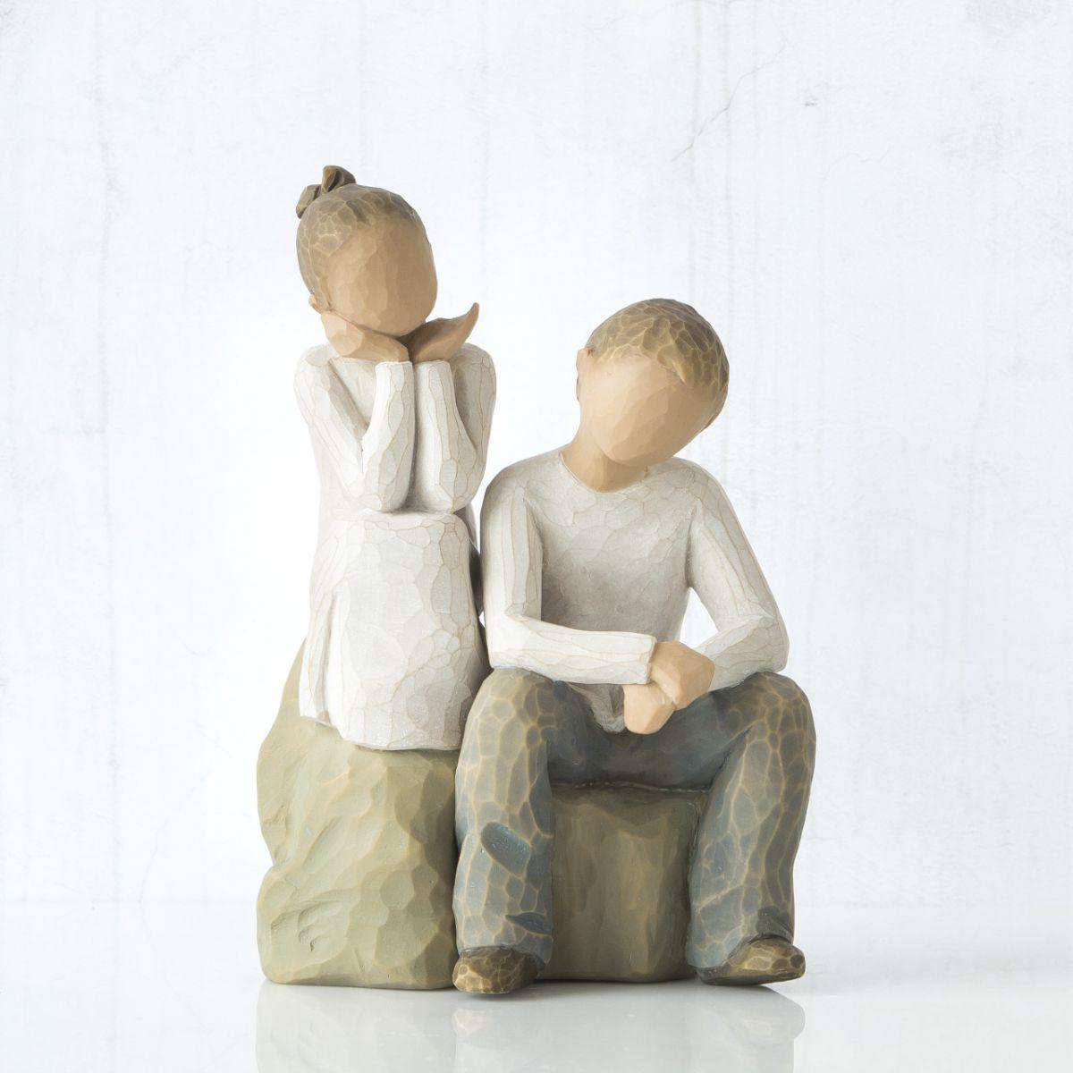 ウィローツリー彫像 【Brother and Sister】 - 兄弟姉妹