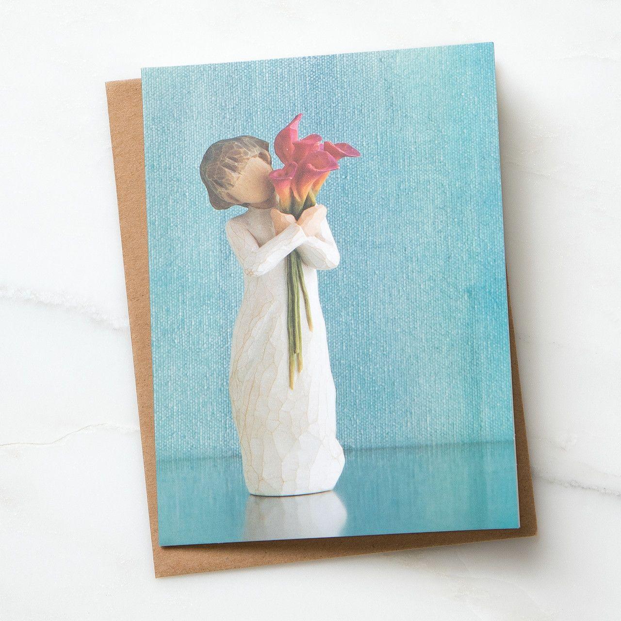 ウィローツリーノートカード 【Bloom】 - 花盛り