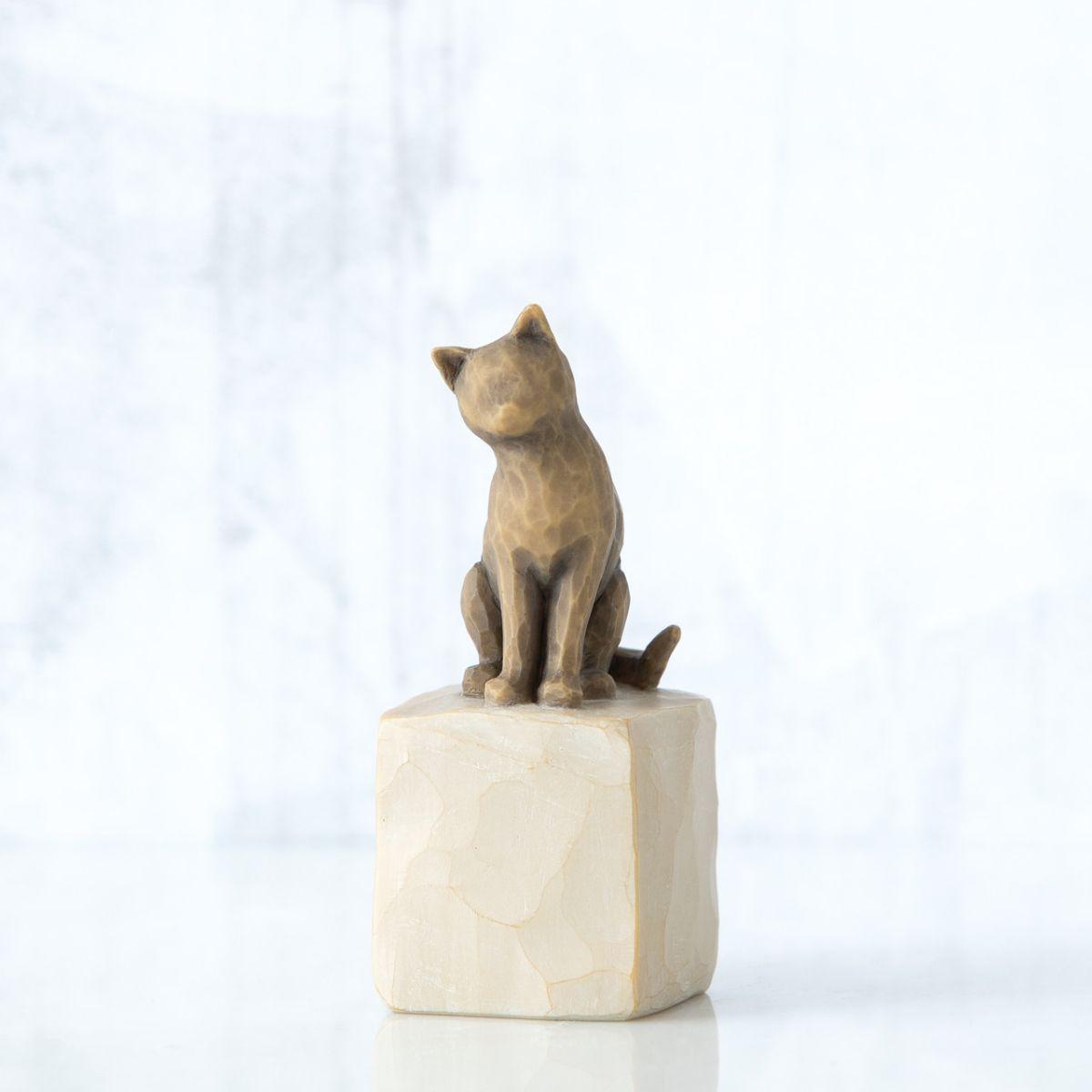ウィローツリー彫像 【Love my Cat(dark)】 - 私の愛猫