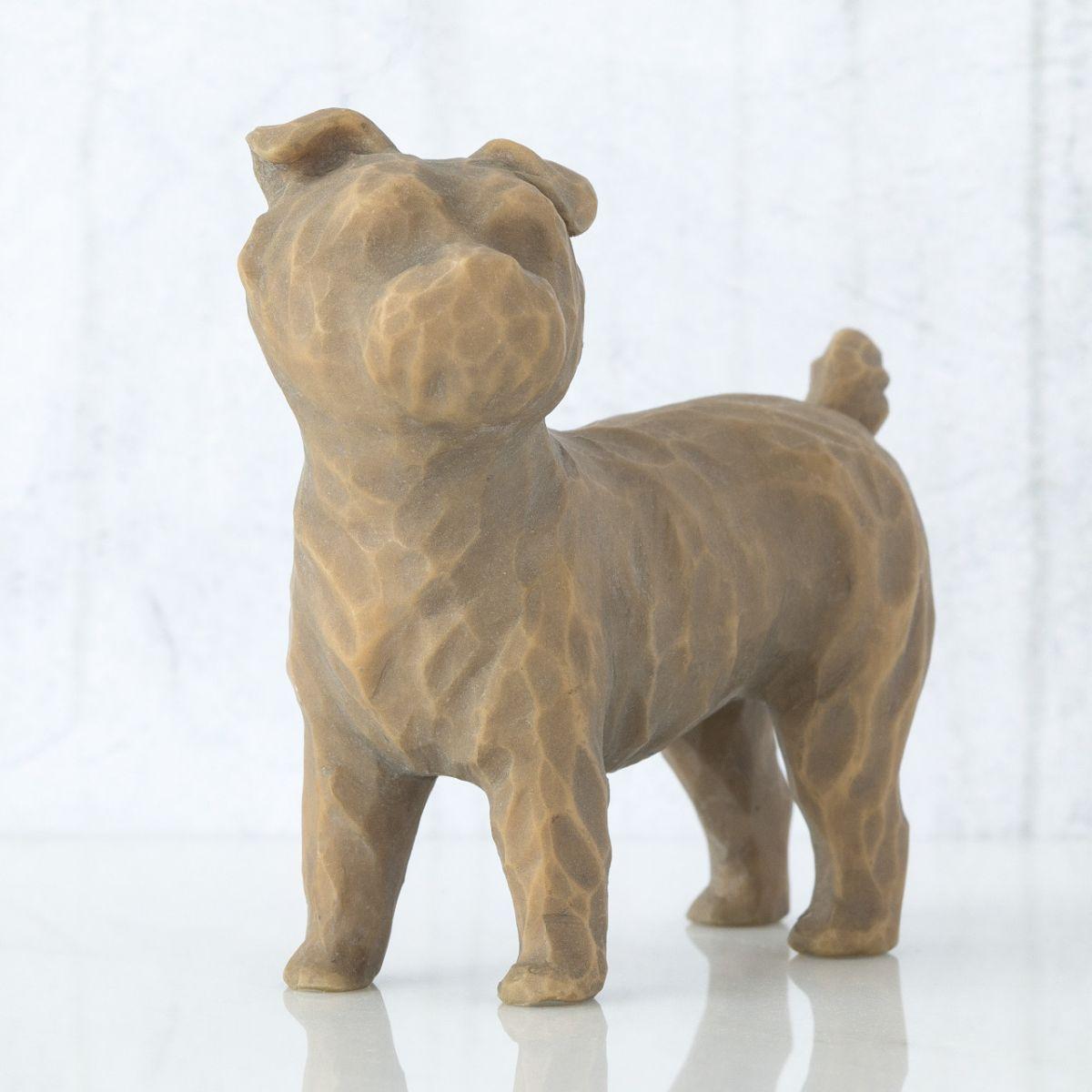 ウィローツリー 彫像 【Love my Dog (standing)】 - 私の愛犬