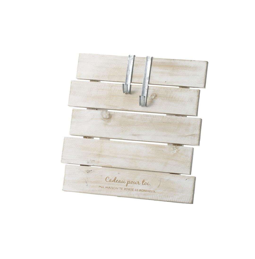 Qururi アクセサリ 木製リーススタンド ホワイト