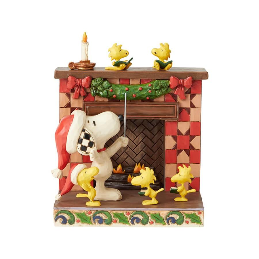 スヌーピー 暖炉