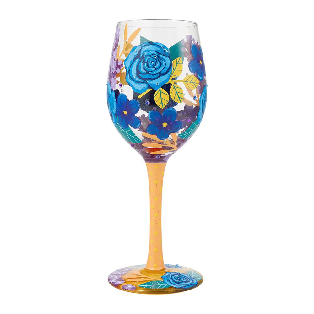 Lolita ワイングラス BLUE FLORALS