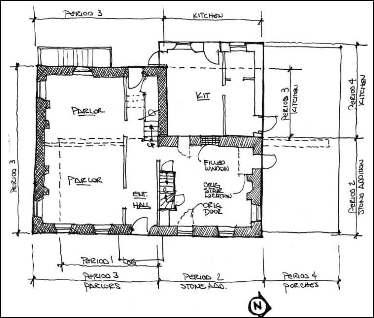Dixon-Jackson House Floor Plan