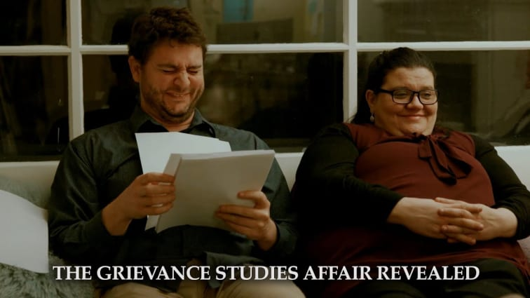 Grievance study authors laughing
