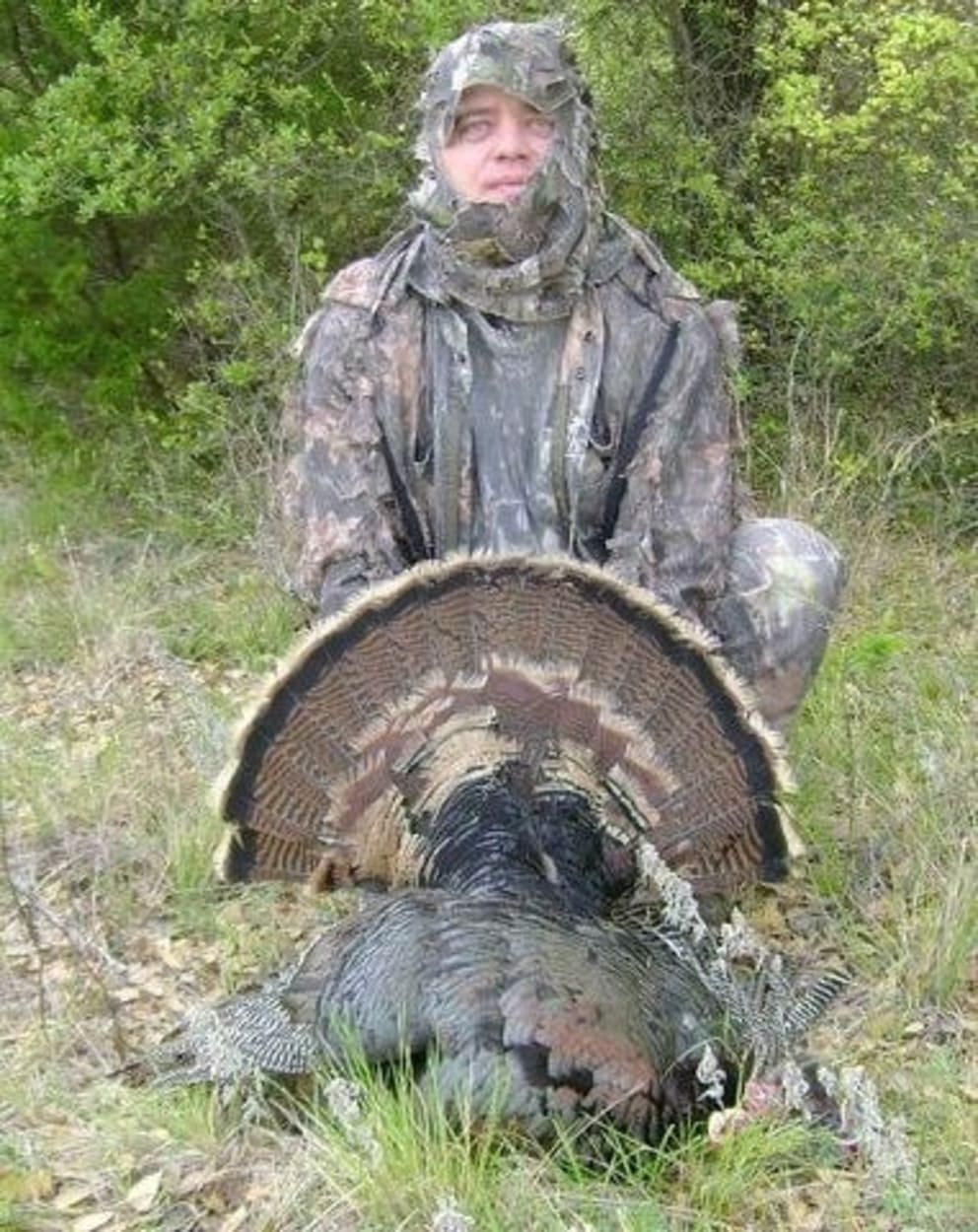 Philip with a turkey