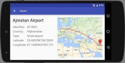 Airport app - details in landscape