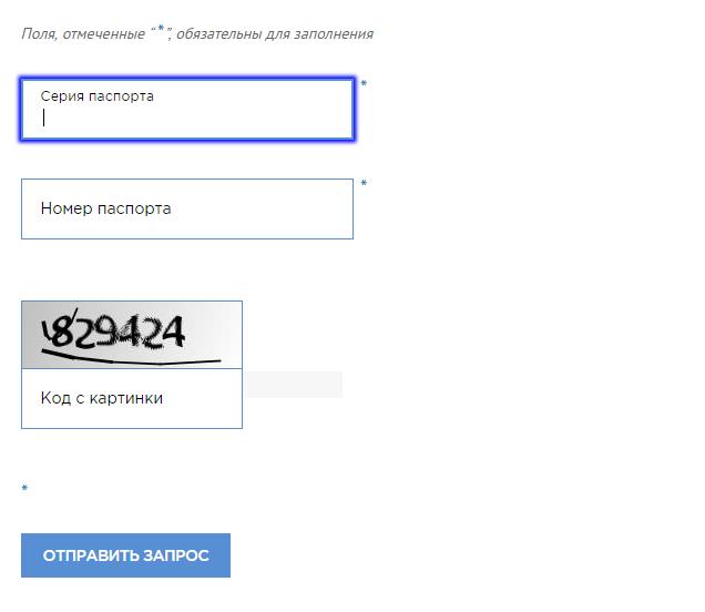 Проверка паспорта РФ на действительность