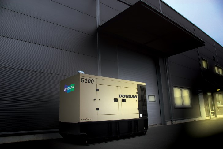G100 generator providing power at night