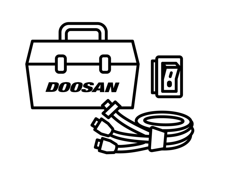 Doosan wiring harness and switch