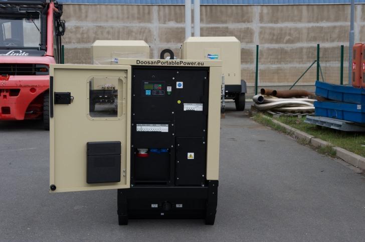G100 generator providing power at night
