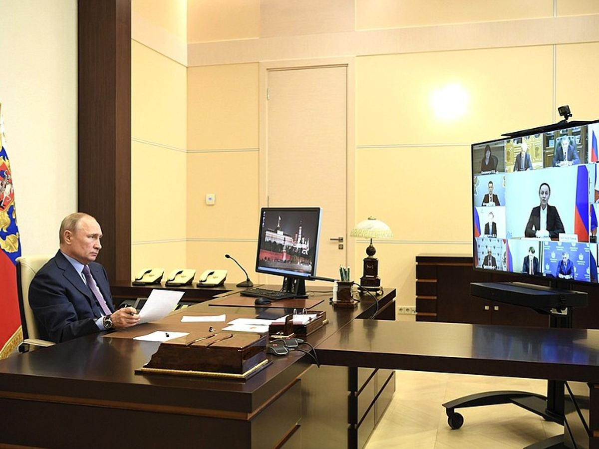 Meeting on the situation in the light industry (by videoconference).
