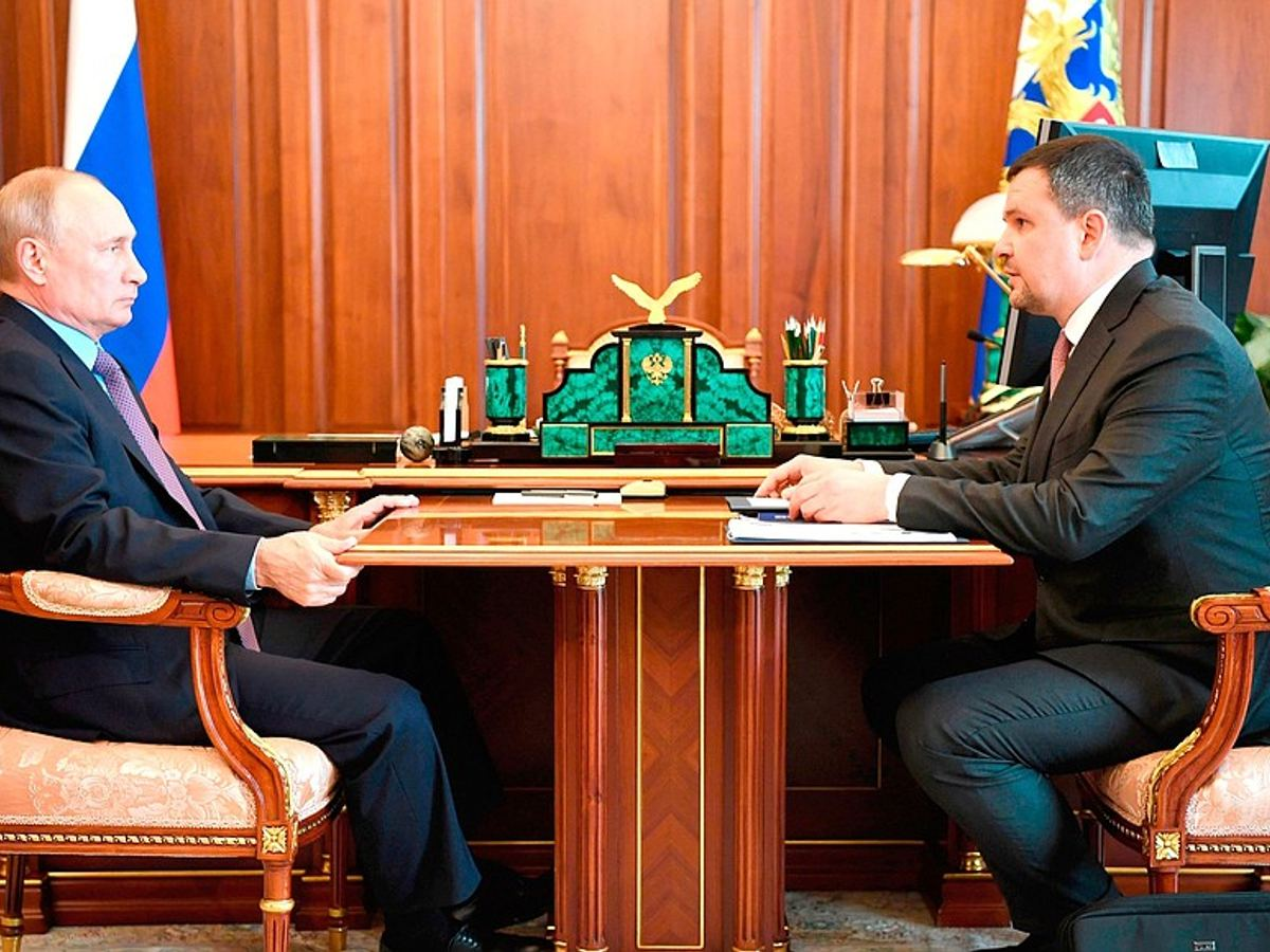 Meeting with Maxim Akimov, CEO of Russian Post and chairman of the board.