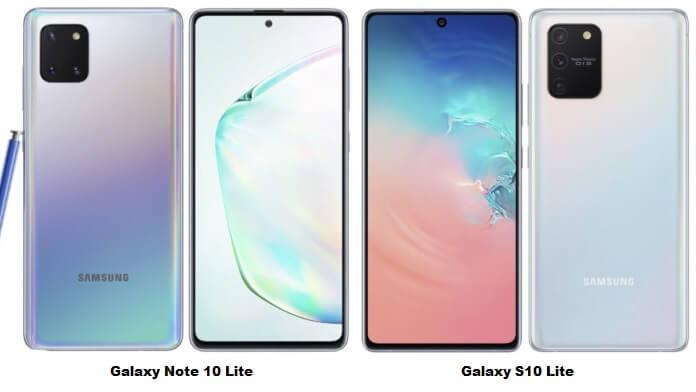 Samsung Galaxy S10 Lite și Note 10 Lite