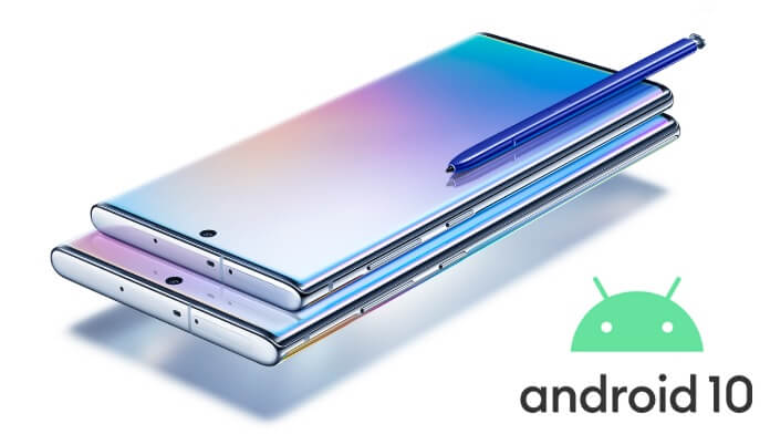 Galaxy Note 10 actualizare Android 10