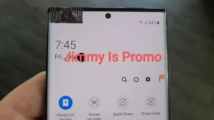 Samsung Galaxy Note 20 Ultra imagine frontală