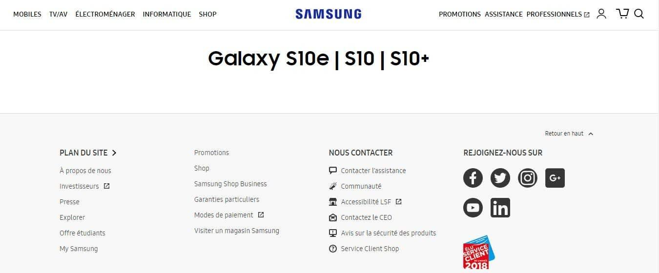 Numele Galaxy S10e confirmat de Samsung