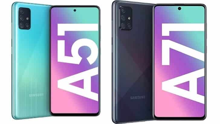 Samsung Galaxy A51 si A71