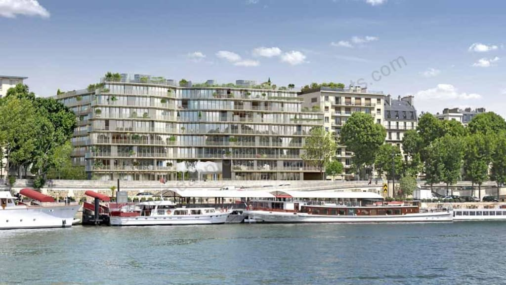 From €671,000 to €2,156,000.  Paris – River Seine.