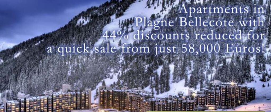 Luxury Built Ski Apartments Palgne Bellecote with 44% discounts reduced for quick sale from just 58,000 Euros!