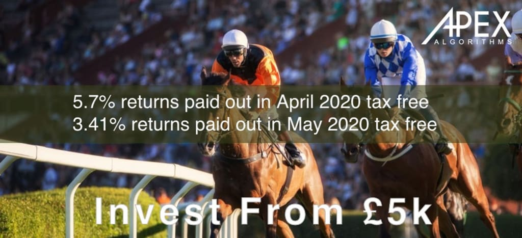 T the edge in sports betting – 9.1% returns paid out over April – May tax free